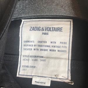 Zadig & Voltaire Jackets & Coats - Zadig & Voltaire Black Jean Jacket